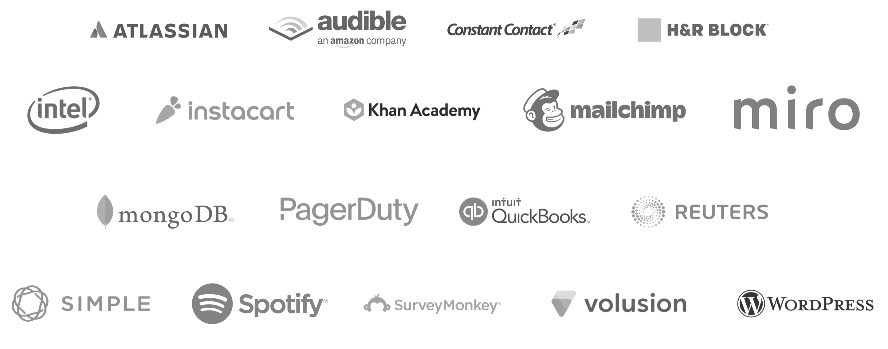 WordPress | MailChimp | Simple | SurveyMonkey | CrazyEgg