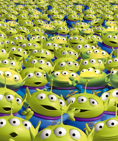 Creepy Sea of Eyes from Toy Story's Aliens